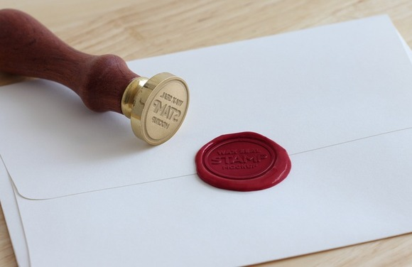 Wax Seal Stamp Mockup For Logos