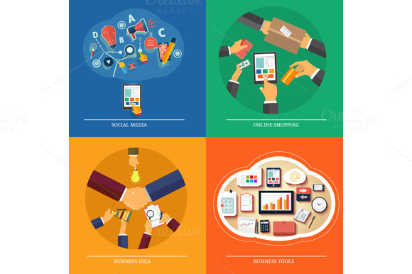 Set Icons For Web Design Seo Media