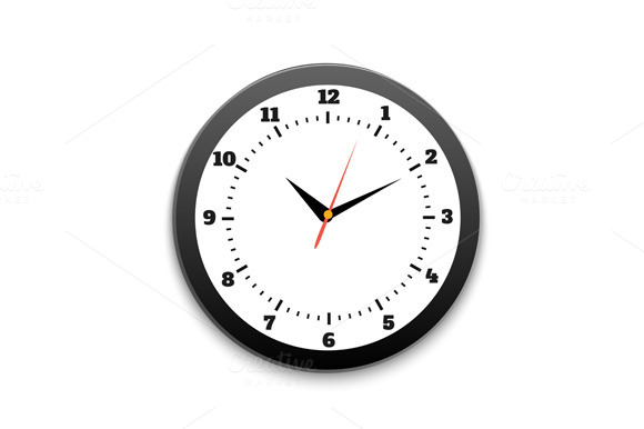 Set Round Office Clock