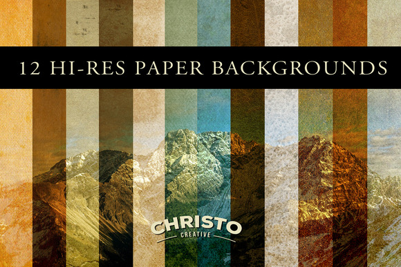 12 Vintage Paper Backgrounds