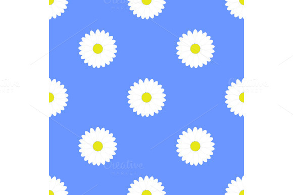 Set Flower Seamless Pattern