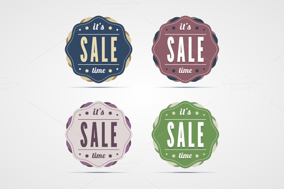 Vintage Sale Time Badges