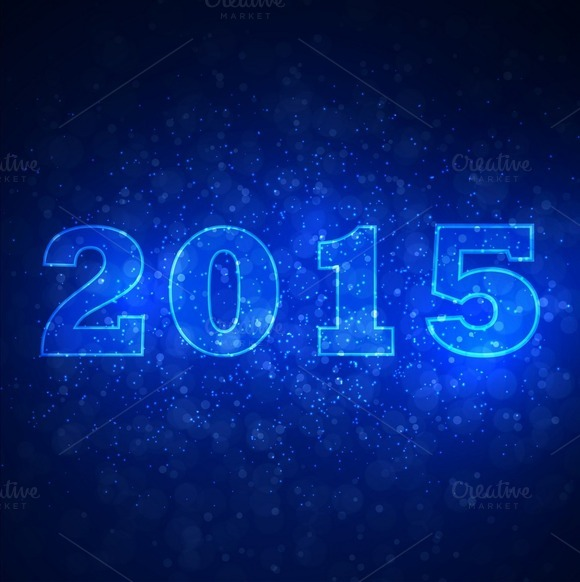 Abstract Space Background With 2015