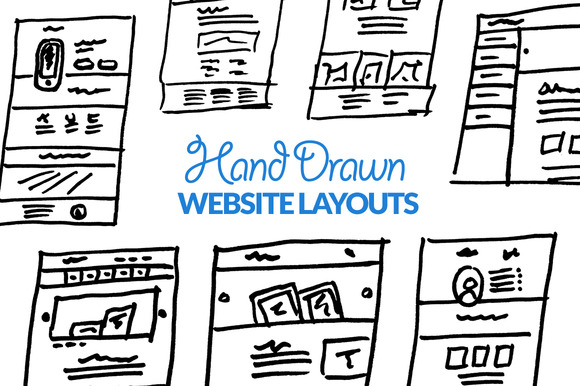 Hand Drawn Website Layouts