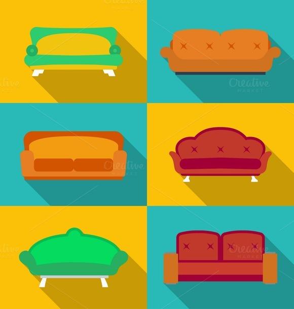 Icon Set Of 6 Sofas