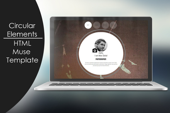 Circular Elements-HTML Muse Template