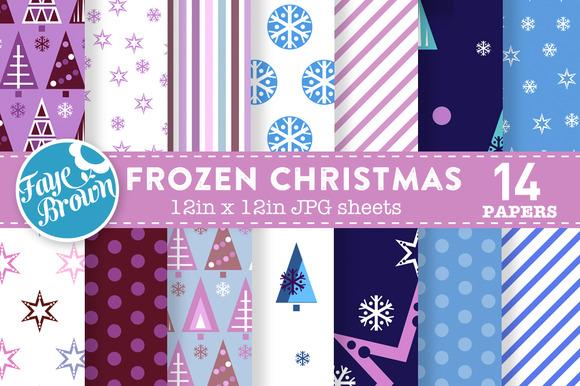 Frozen Christmas Digital Paper