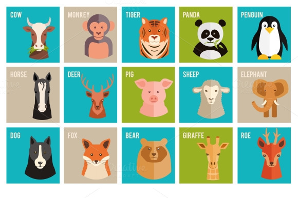 Vector Icons Of Animals And Pets