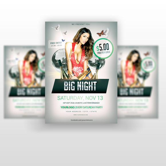 Big Night Party Flyer PSD Template