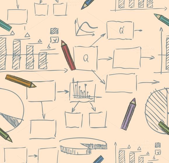 Business Doodle Sketch Pattern