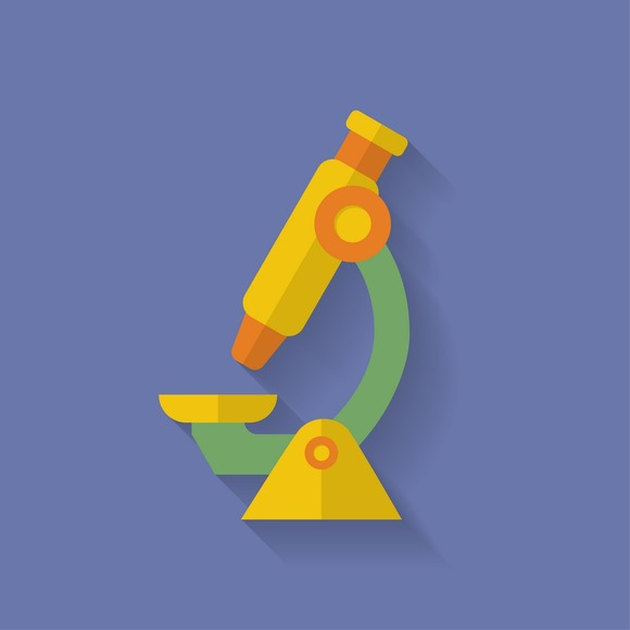 Microscope Icon Flat Style