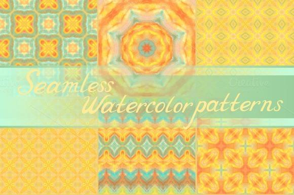 Set 20 Seamless Watercolor Patterns