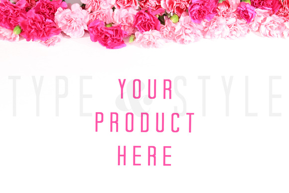 Styled Stock Photo Pink Flowers