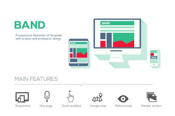 Band Semantic-UI HTML Template