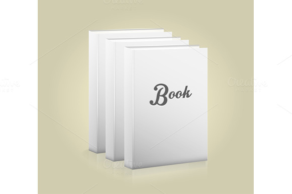 Set Front View Of Blank Book
