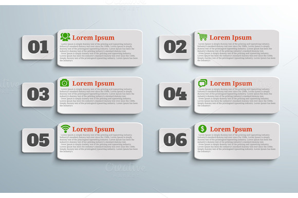 Infographic Banners With Icons And N