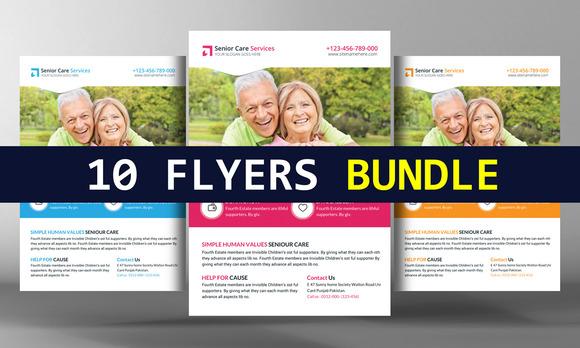 10 Business Corporate Flyers Bundle