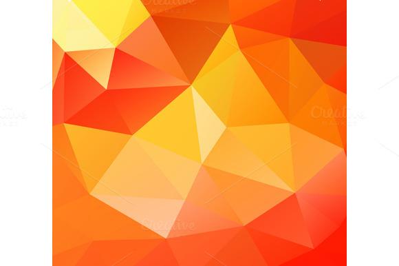 Triangle Background Orange Polygons