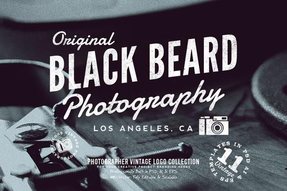 Photographer Vintage Logo Collection