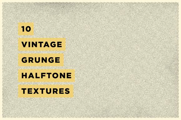 10 Vintage Grunge Halftone Textures