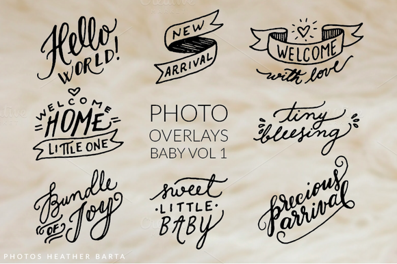 Photo Overlays Welcome Baby 1