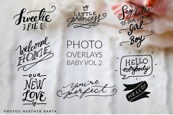 Photo Overlays Welcome Baby Vol.2