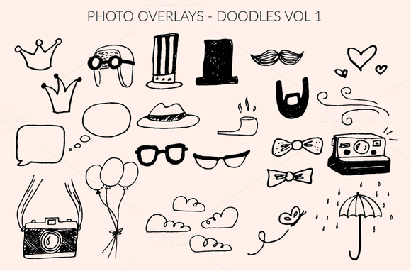 Photo Overlays Doodles Collection