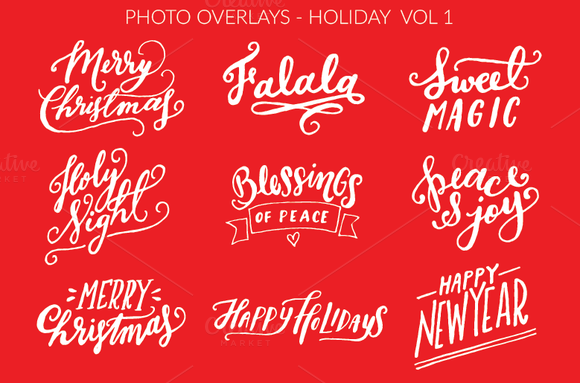 Photo Overlays Holiday Vol.1