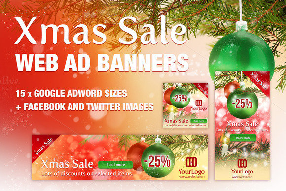 Xmas Ad Banners Google Adwords
