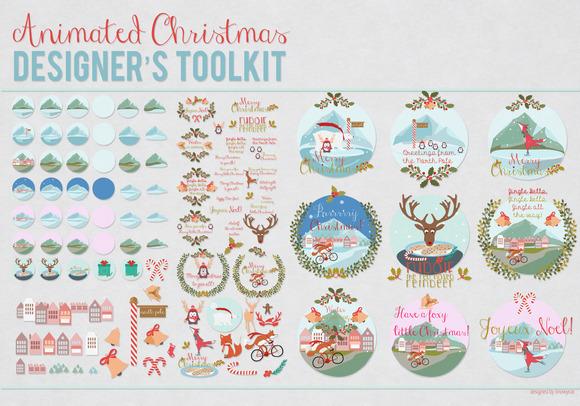 Animated Christmas Designers Toolkit