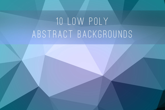 10 Low Poly Abstract Backgrounds