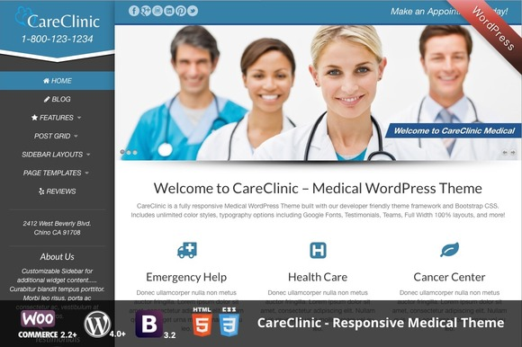 CareClinic WordPress Medical Theme