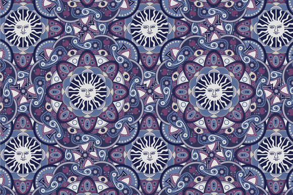 Seamless Abstract Esoteric Pattern