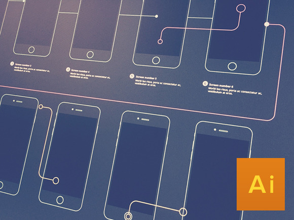 Wireframe Template IPhone6