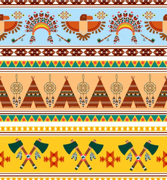 Tribal Ethnic Vintage Background