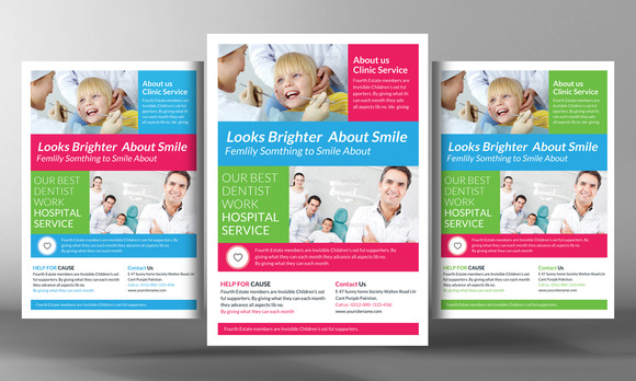 Femily Dentist Flyer Template
