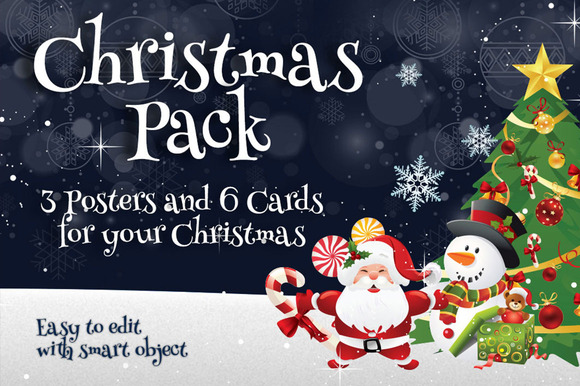 Christmas Pack Posters Cards