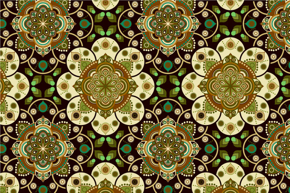 2 Colorful Flowers Patterns