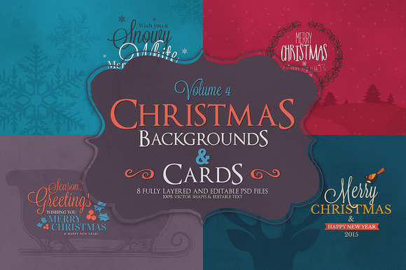 Christmas Background Cards Vol.4