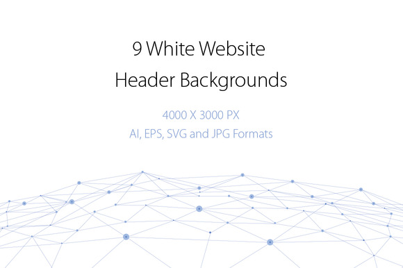 9 White Website Header Backgrounds