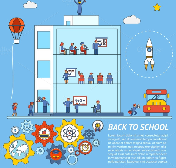Back To School Infographic Template