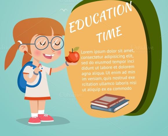 Stock Graphic - Retro Education Poster » Logotire.com