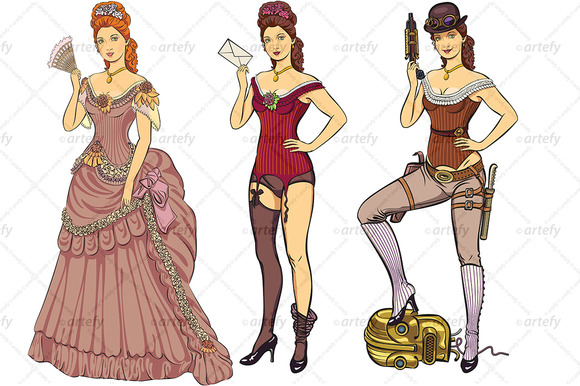 Victorian Styled Ladies