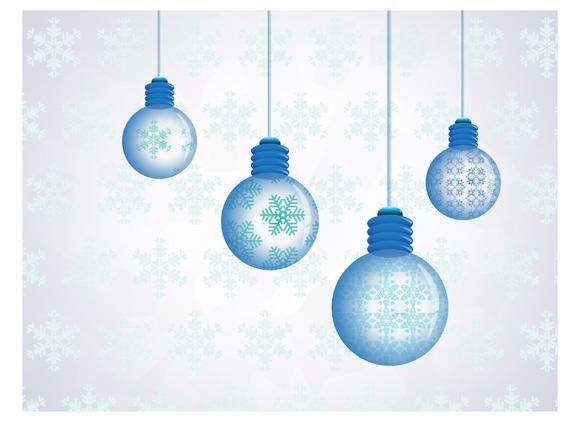 Snowflakes Crystal Bulb