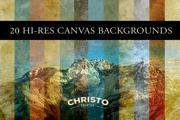 20 Vintage Canvas Backgrounds