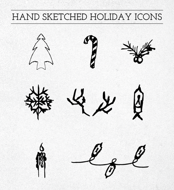 Hand Sketched Holiday Icons