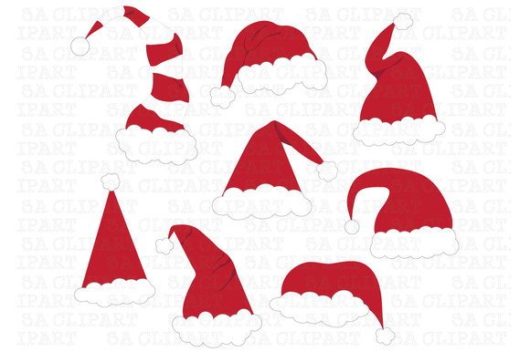 Christmas Santa Hat Clipart