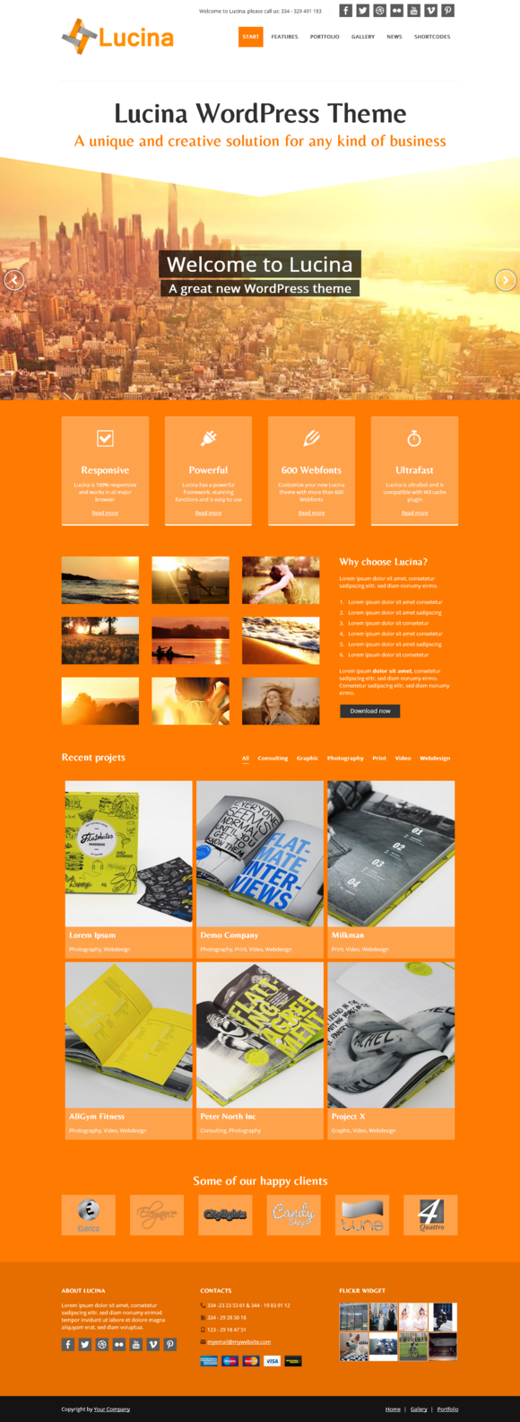 Lucina Creative Business Theme