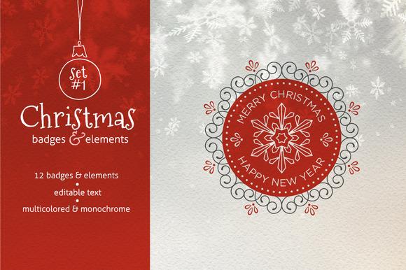 Christmas Badges Set #1