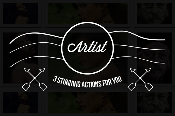 3 Artist Photoshop Actions